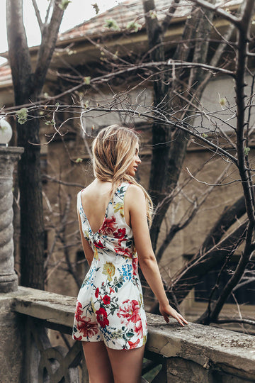 Botanical Twist Back Playsuit
