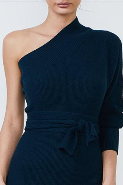 Tanzanite Off Shoulder Sweater