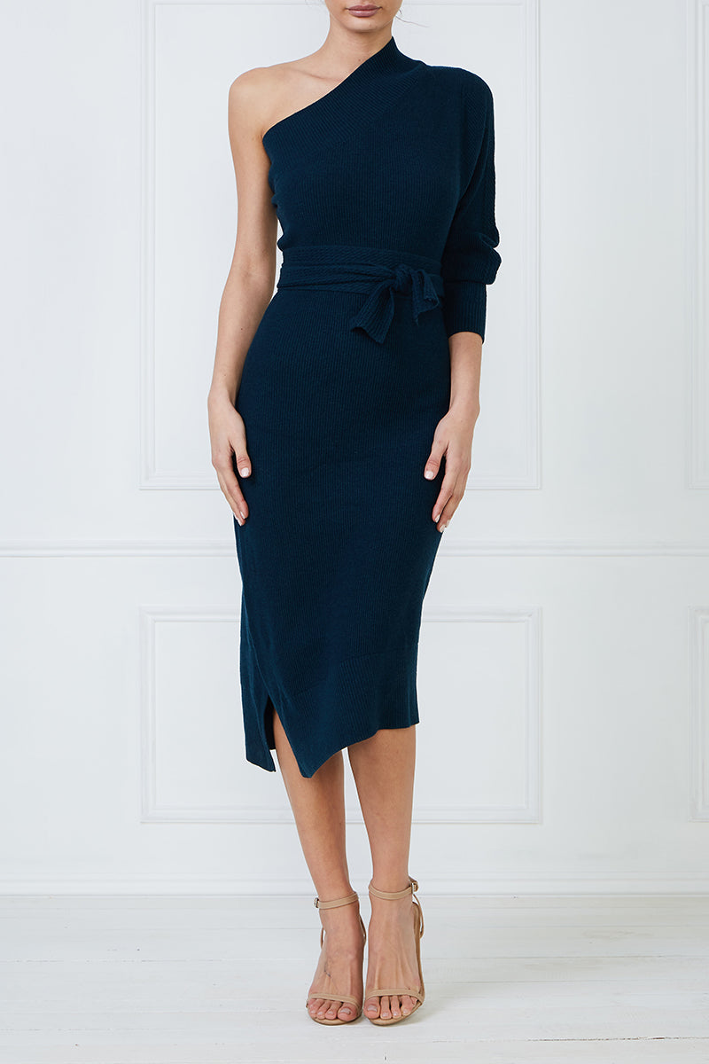 Tanzanite Cold Shoulder Dress