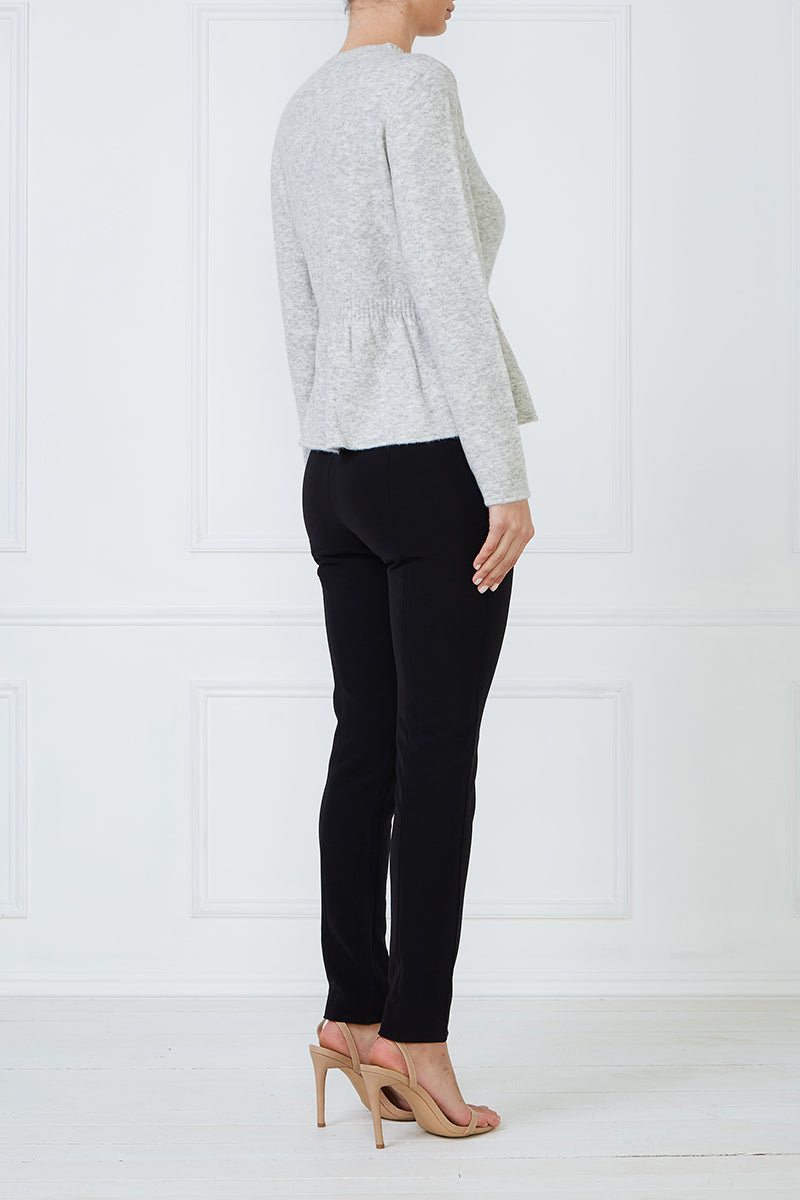 Rose Peplum Sweater