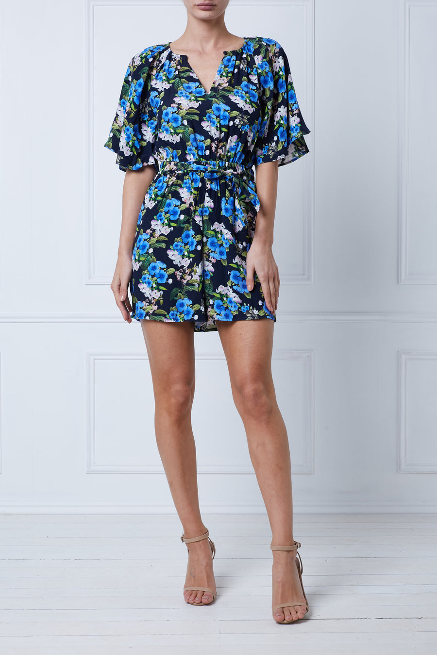 Bluebell Flare Sleeve Playsuit