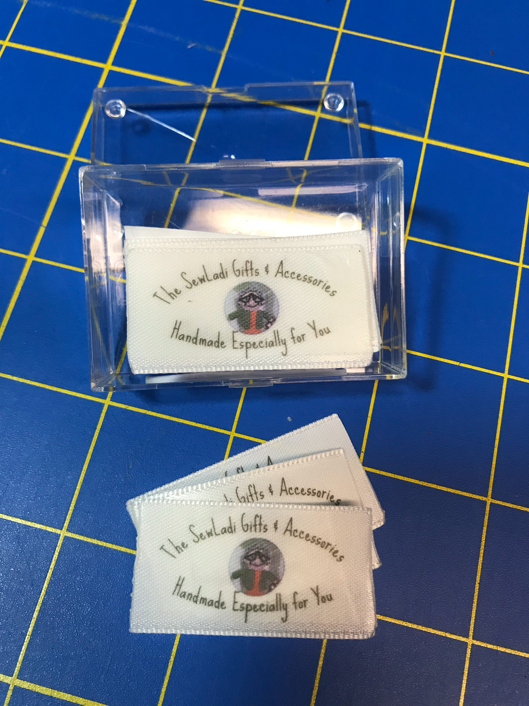 30 Personalized Sew-In Garment/Product Tags