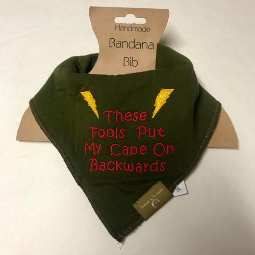 """Backwards Cape"" Bandana Bib"