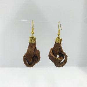 """All Knotted Up"" Genuine Leather Earrings (8 Colors)"