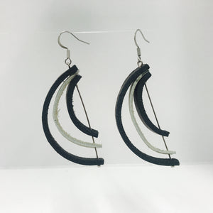 """Oreo™︎ Slices"" Genuine Leather Earrings"