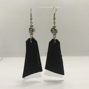"""Kahlua Leather"" Dangle Earrings"