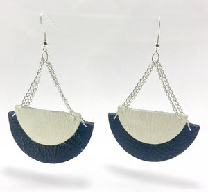 """Half-Moon"" Dangle Earrings"