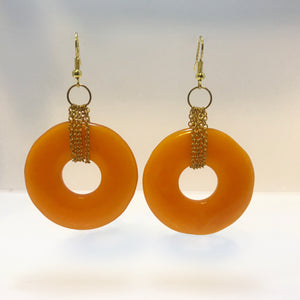 """Tangerine Dreams"" Dangle Hoop Earrings"