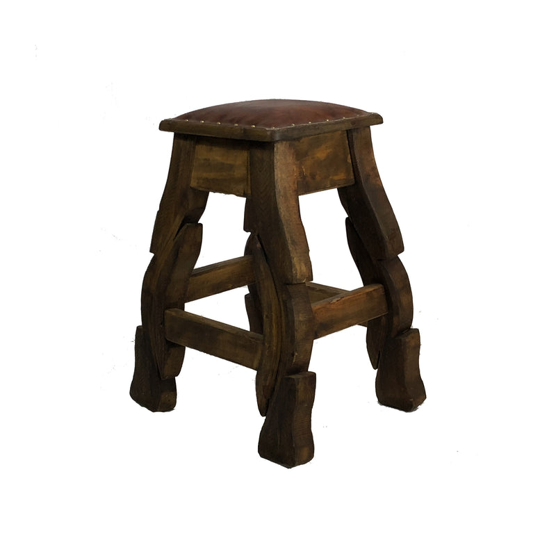 "Yugo 24"" Bar stool w/ Leather"