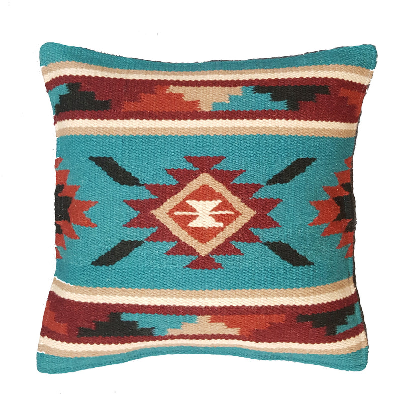 Southwest Wool Pillow Teal