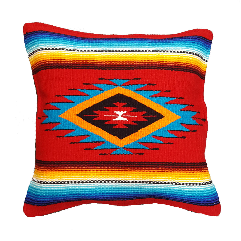 Southwest Wool Pillow Red