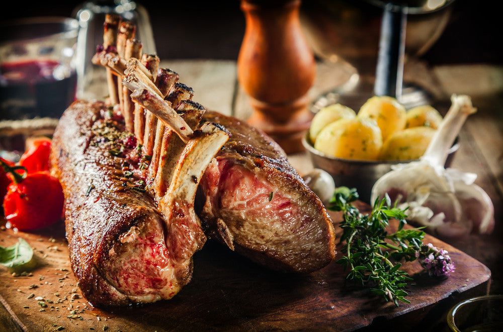 Whole Bone-In Rack Of Lamb (NF) (GF) - 8 Bone Rack - Per Portion