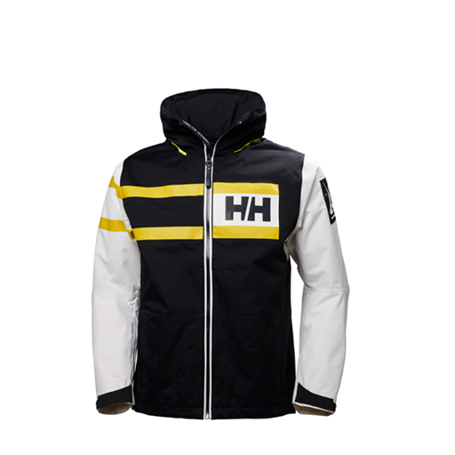 HELLY HANSEN - SAILING JACKET (BLACK/YELLOW/WHITE)