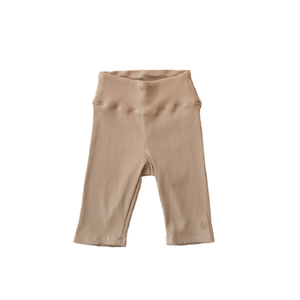YEAR OF OURS - RIBBED BIKER SHORTS (TAN)
