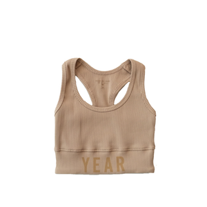 YEAR OF OURS - RIBBED YEAR BRA  (TAN)