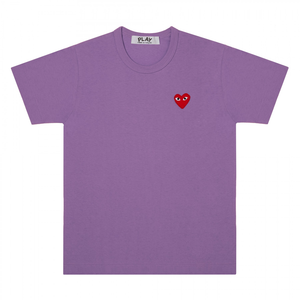 COMME DES GARCONS - PLAY T- SHIRT RED HEART (PURPLE) MENS
