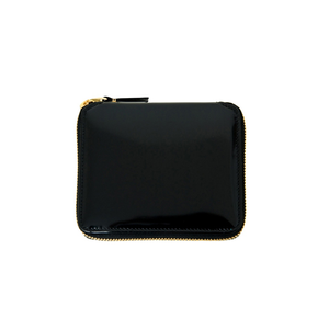 COMME DES GARCONS - ZIP-AROUND WALLET (GLOSSY BLACK)
