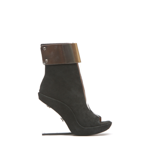 JEFFREY CAMPBELL - RONI MC (BLK SUEDE/SILVER)