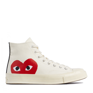 COMME DES GARCONS - PLAY x CONVERSE CHUCK TAYLOR ALL STAR '70 HIGH (WHITE)