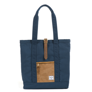 HERSCHEL SUPPLY CO. - MARKET TOTE CORD (NAVY)