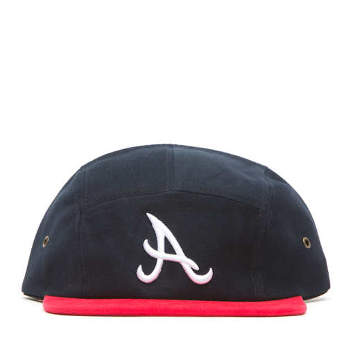 BBK - A 5 PANEL HAT (NAVY/RED)