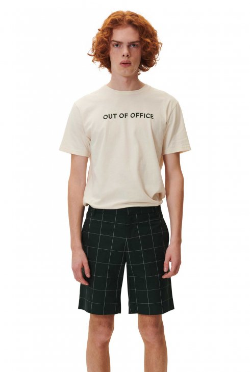 WOOD WOOD  OUT OF OFFICE T-SHIRT - Off White