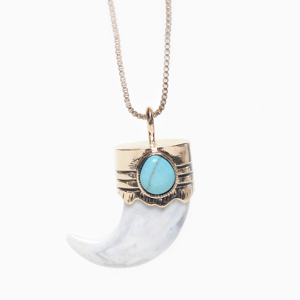 MELODY EHSANI - BOBCAT MARBLE CLAW NECKLACE