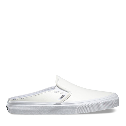 VANS - WMNS LEATHER SLIP-ON MULE (WHITE)