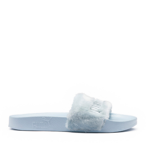 PUMA - FENTY FUR SLIDES by Rihanna (COOL BLUE-PUMA SILVER)