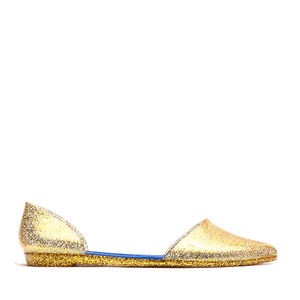 JEFFREY CAMPBELL - JELLY LOVE (GOLD GLITTER)