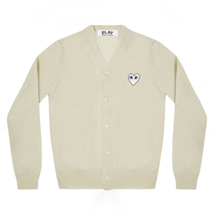 W PLAY WHITE HEART CARDIGAN