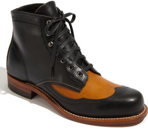 WOLVERINE 1000 MILE - ADDISON BOOT (BLACK/BROWN)
