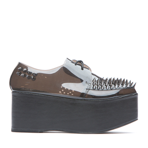 JEFFREY CAMPBELL - STINGER SPIKED (BLACK/CLEAR)
