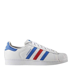 ADIDAS - SUPERSTAR (WHITE/BLUE/RED)
