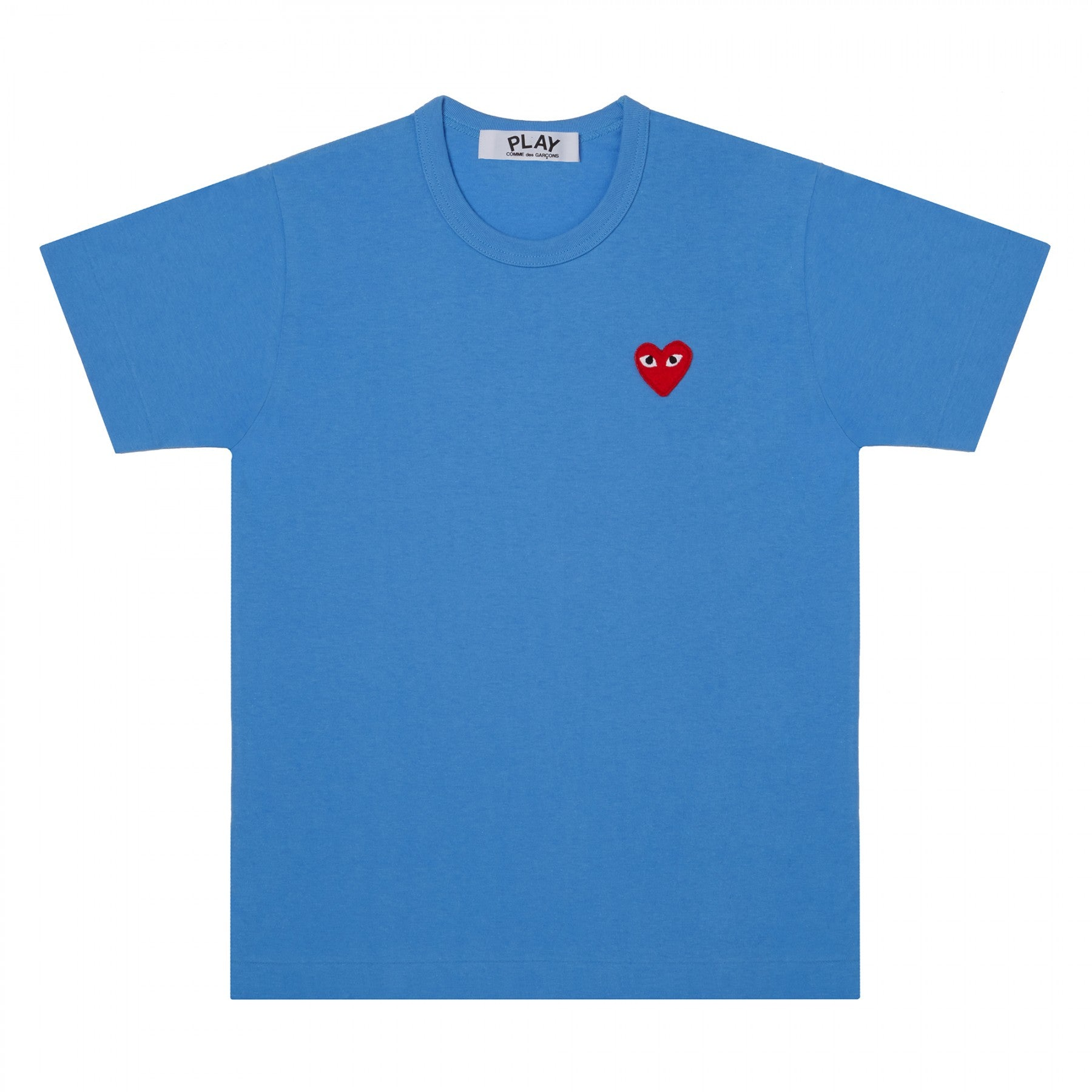 COMME DES GARCONS - PLAY T- SHIRT RED HEART (BLUE) MENS