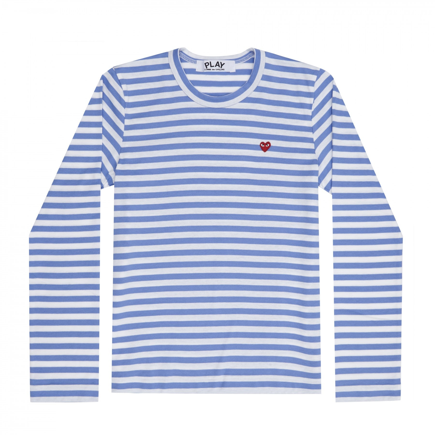 Comme des Garcons PLAY Color Series Little Red Heart Striped Long-sleeved T-Shirt
