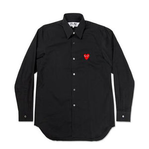 COMME DES GARCONS - PLAY RED HEART SHIRT (BLACK) MENS