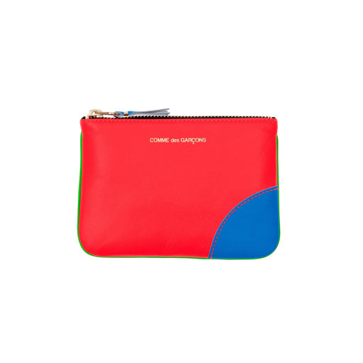 COMME DES GARCON - SUPER FLUO ZIP WALLET (ORANGE/GREEN)