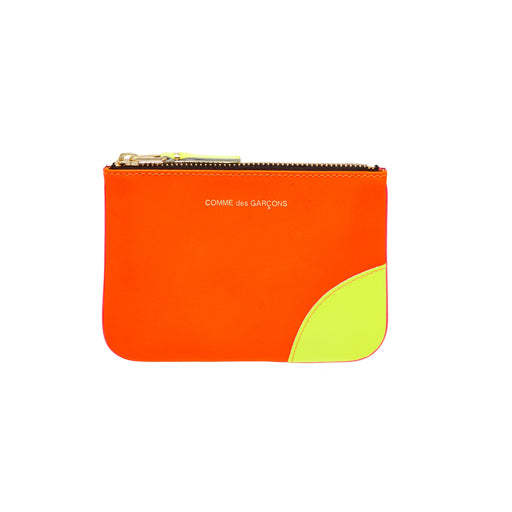 COMME DES GARCON - SUPER FLUO ZIP WALLET (LIGHT ORANGE/PINK)