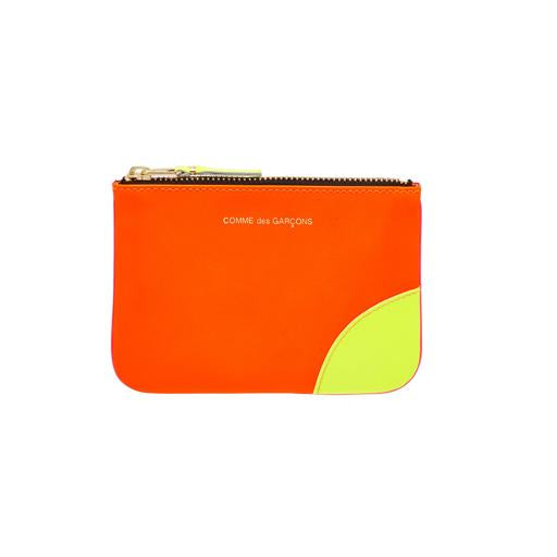 COMME DES GARCONS - SUPER FLUO ZIP WALLET (LIGHT ORANGE/PINK)