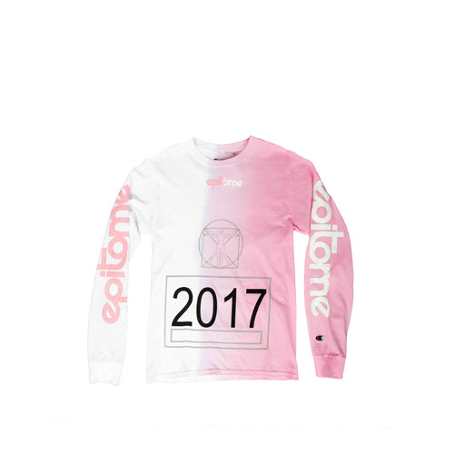 EPITOME x CHAMPION - 335mm DIP-DYE LONG SLEEVE (ROSE QUARTZ)