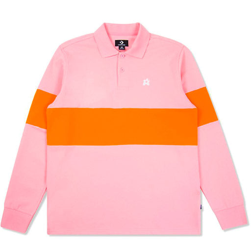 CONVERSE x TYLER THE CREATOR - GOLF LE FLEUR POLO LONG SLEEVE (CANDY PINK)