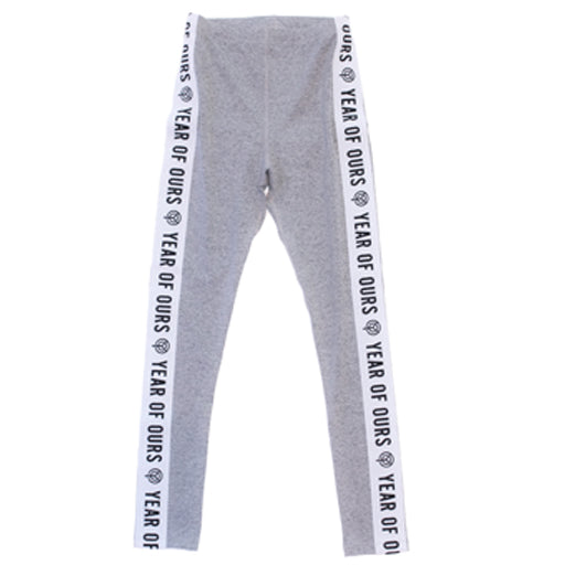 YEAR OF OURS - SIDE ELASTIC LOGO LEGGING (HEATHER GREY)