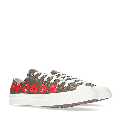Play Converse Multi Heart Chuck Taylor All Star '70 Low Top (Khaki)