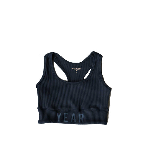 YEAR OF OURS - RIBBED YEAR BRA  (BLACK)