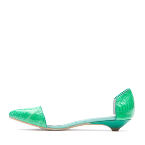 JEFFREY CAMPBELL - SCATTER (GREEN SNAKE/CLEAR)