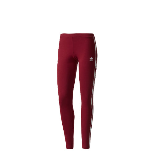 WMNS 3STRIPE LEGGINGS (BURGUNDY)