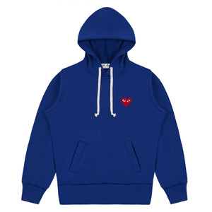 COMME DES GARCONS - PLAY HOODED SWEATSHIRT (NAVY) WMNS
