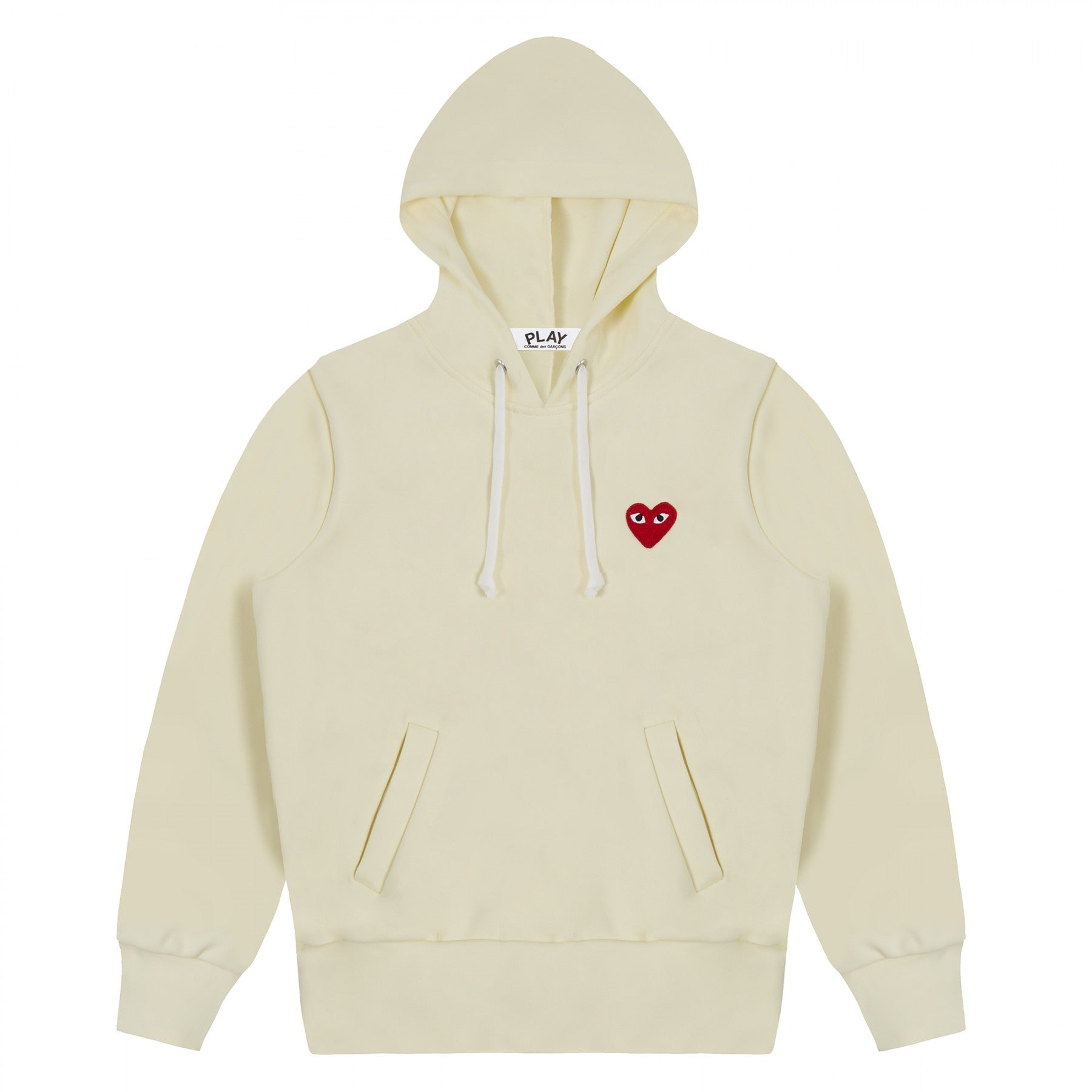 COMME DES GARCONS - PLAY HOODED SWEATSHIRT (IVORY) MENS