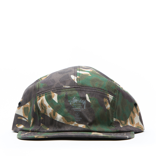 STUSSY DELUXE - CAMO CHAMBRAY CAMP CAP (NATURAL)